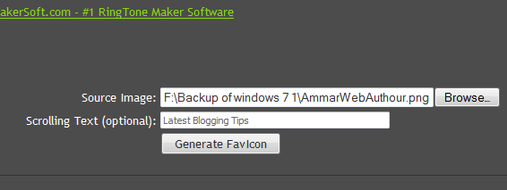 How To Easily Create Animated Favicons And Add It To Blogger