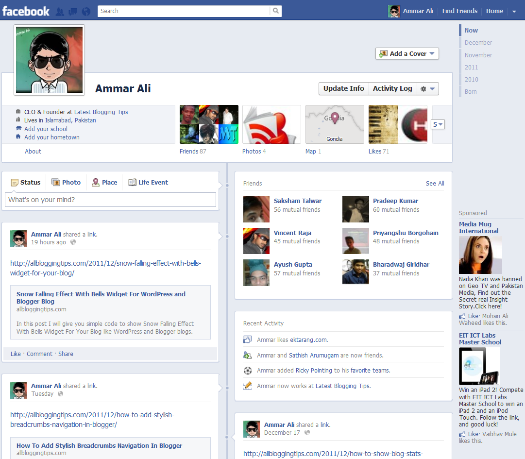 Get The New Facebook Timeline In One Simple Step