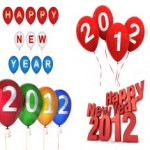 Happy New Year 2012 Ballons Widget