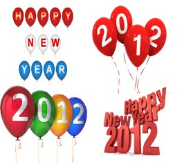 Happy New Year 2012 Balloons Widget