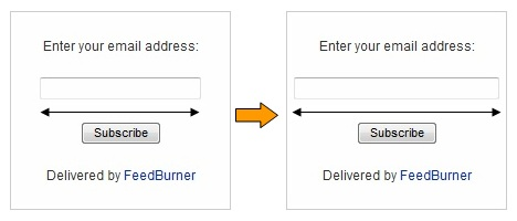 4 Ways To Customize Feedburner Email Subscription Form