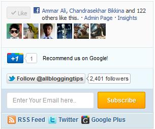 New Mashable Style Social Subscription Widget