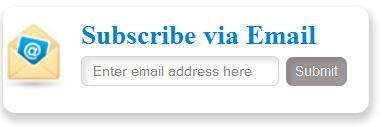 Stylish & Cute Subscription Form Widget For Blogs