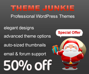 XMAS Special : Theme Junkie 50% Off Discount Coupon