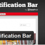 add notification bar in wordpress