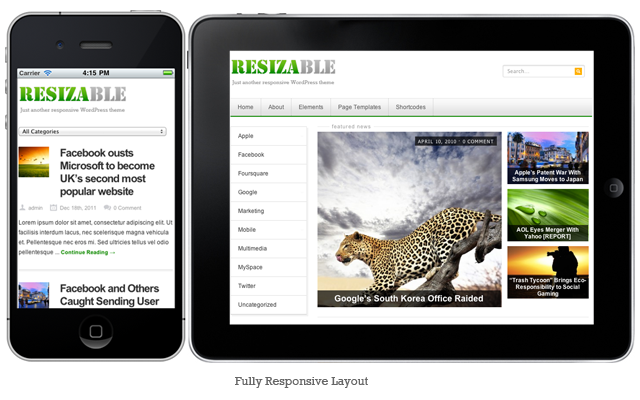 Resizable: Responsive WordPress Theme : Get 35% Off !