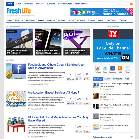 Freshlife Theme: Best Magazine WordPress Theme