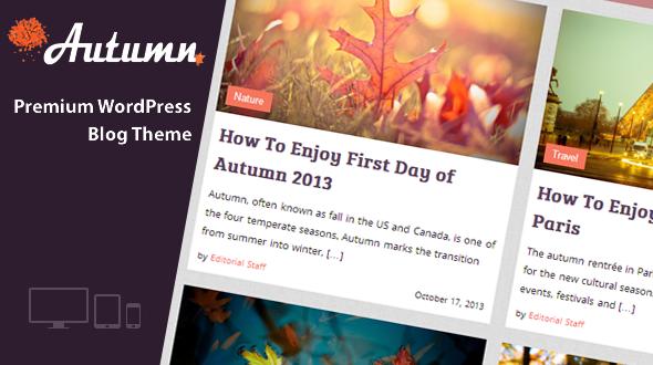 Antumn WordPress Theme