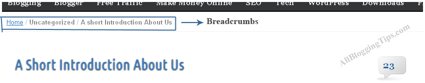 How To Add Stylish Breadcrumbs Navigation In Blogger
