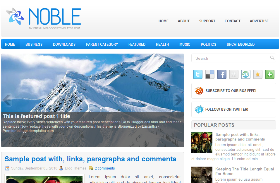 noble  - Free Blogger Template