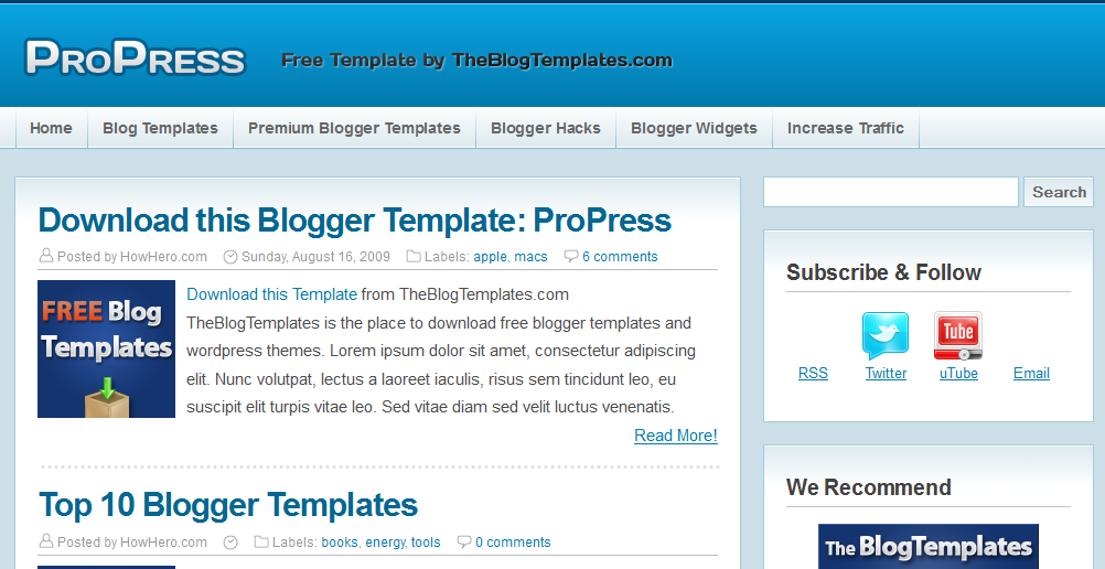 Propress  - Free Blogger Template