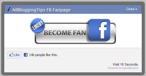 fb fan page with timer