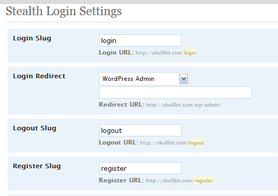 Stealth Login WP