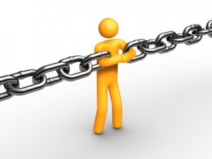 people hold links