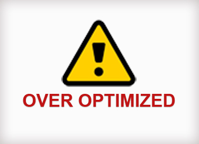 SEO over optimization