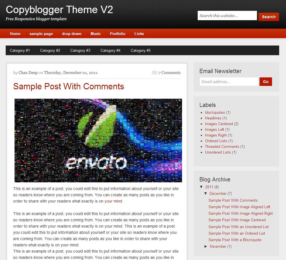 Copyblogger Theme V2