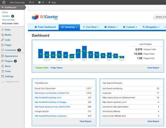 w3counter stat plugin for WordPress