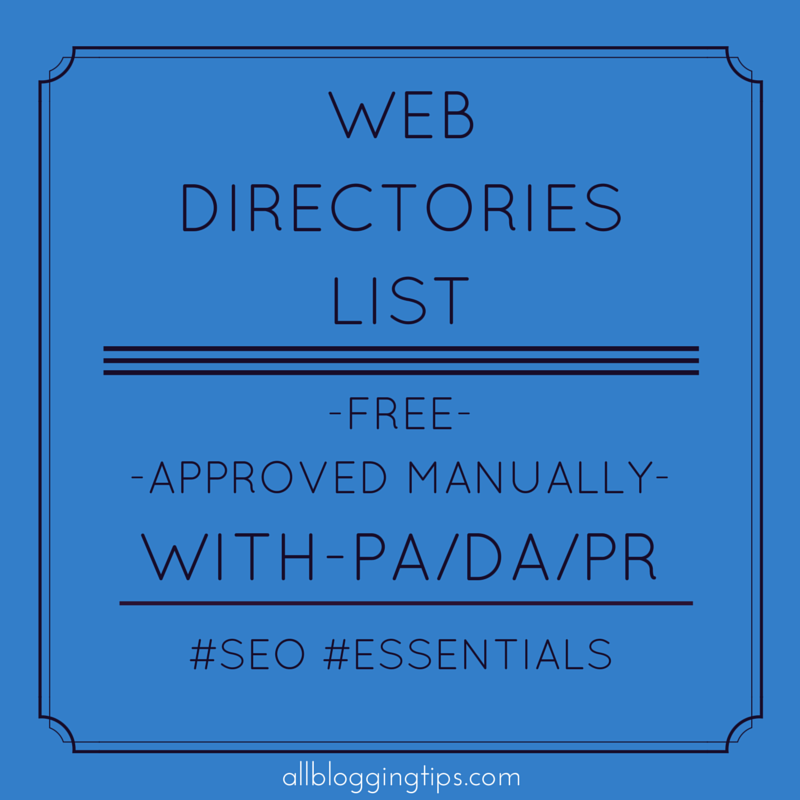 List web directories free