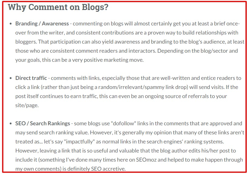 Recommendations for Blog Commenting as a Marketing Strategy Moz