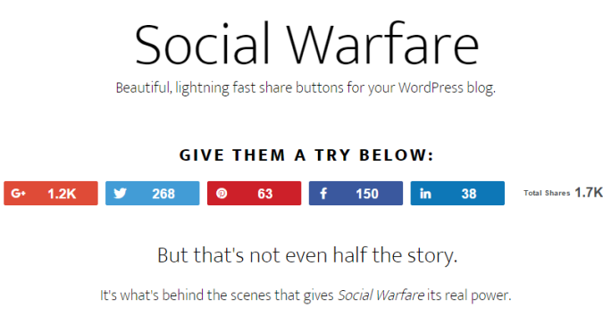 social warefare plugin