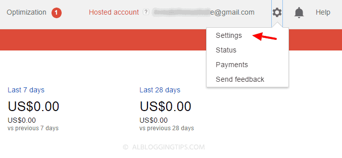 step one to convert hosted adsense account