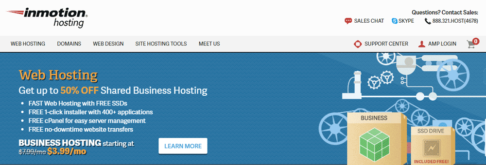 InMotionHosting Homepage
