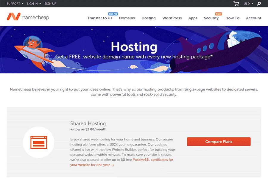 Namecheap Giveaway: Win 3 Stellar Plus Hosting +  website Domain